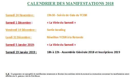 Calendrier 2018 9