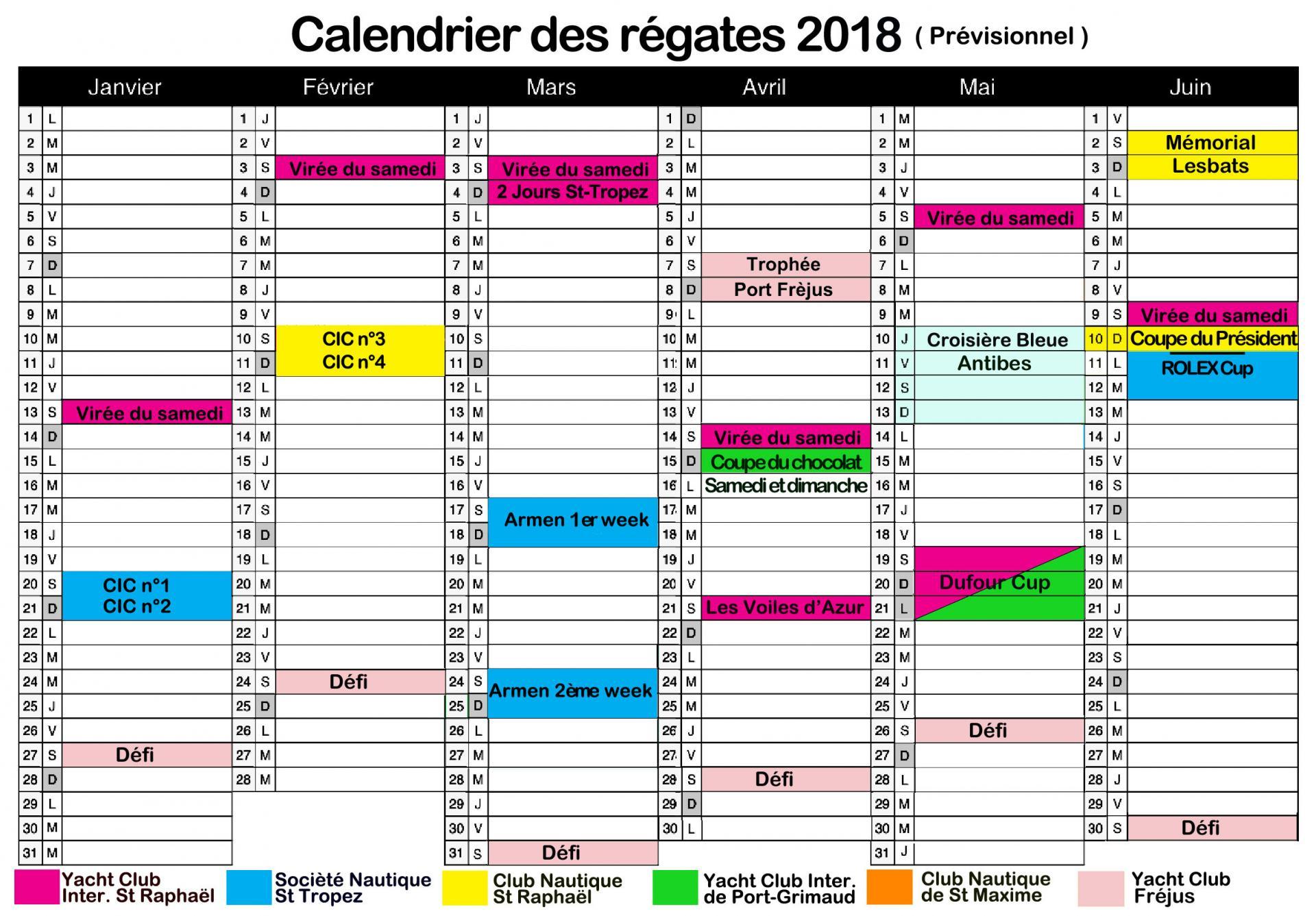 Calendrier 2018 a