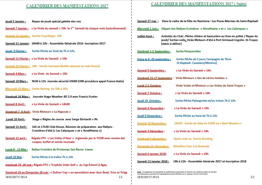 Calendrier 2pages 2017 fevrier