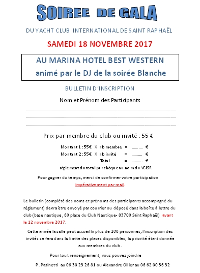 Fiche inscription 2017